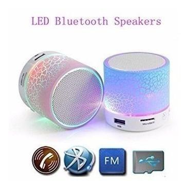 Caixa Som Portátil Bluetooth Pen Drive Luz De Led Cartão Fm