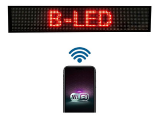 Cartel Led Programable Movimiento Dinamico Rojo Wifi