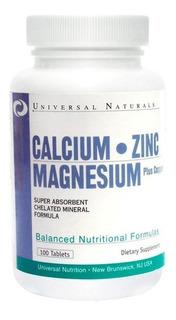 Calcium Zinc Magnesium 100 Tabs - Universal Nutrition