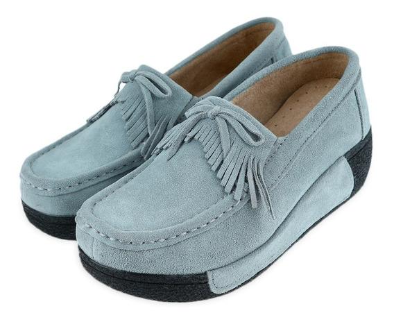 Zapatos Para Dama Con Borla Cuña