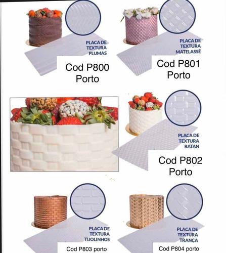 Imagem 1 de 8 de Combo 4  Placas De Texturizar Textura  Bolos  Bwb /porto