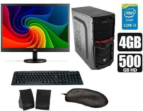 Computador Intel Core I5 + Monitor 18,5 Pol + Kit Multimidia