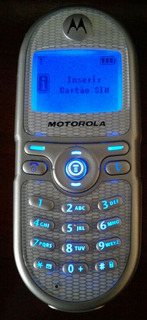 Celular Gsm Motorola C200 Prata Dualband Operadora Tim Lindo