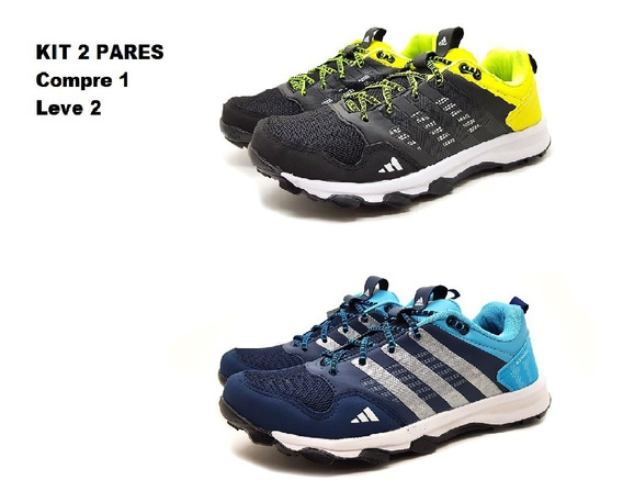 Tênis Kanadia Tr7 Trail Terrex Kit 2 Pares Oferta Running Trainning