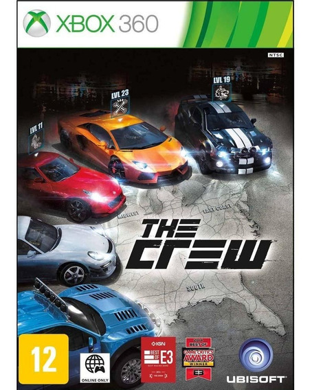 Jogo Xbox 360 The Crew Novo Lacrado