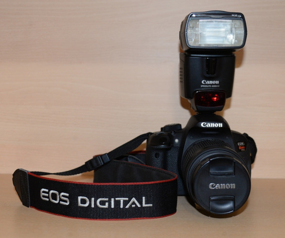 Canon T5i Kit 18-55 Mm + Flash Canon Speedlite Ex Ii - En Sus Respectivas Cajas Y Manuales - Muy Bien Cuidada