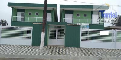 Casa De Condomínio Sobreposta Alta Em Praia Grande, 02 Dormitórios Sendo Suítes, Sala, Lavabo, No Bairro Parque Das Americas Ca0107 - Ca0107