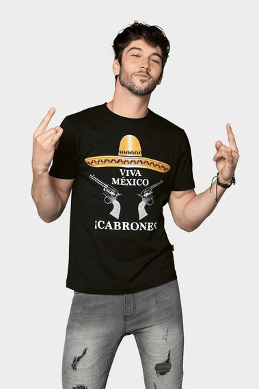 Playera Para Hombre Estampado México_1051