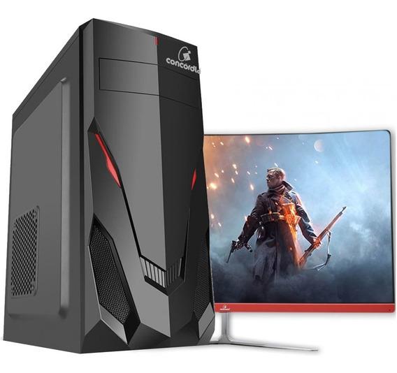 Pc Gamer One Monitor De 27 I5 8gb Hd 1tb Placa De Vídeo 4gb