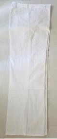 Pantalón 100 % Algodón Color Blanco /caqui Gabardina 8 Oz