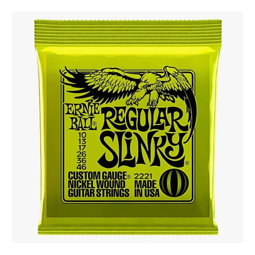 Encordoamento Ernie Ball Regular Slinky 010.046 Oferta!