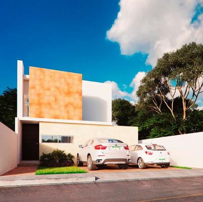 Casas En Vta. Norte Merida Conkal 3 Hbts 2 Baños, Balcón