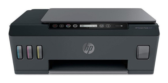 Impressora a cor multifuncional HP Smart Tank 517 com Wi-Fi 110V/220V cinza e preta