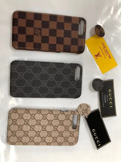 Capinha iPhone 5 6 7 8 Plus X Gucci/ Louis Vuitton