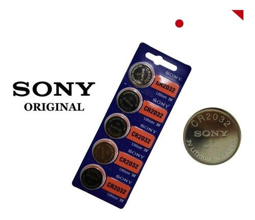 Batería Pilas Cr2032 Nueva Sony Original Litio, 3v, Pack X 5