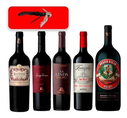 Vino (combo Alta Gama Caja 5  Botellas X 750). Nº4. Quirino