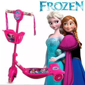 Patinete Infantil Frozen Luz Musical Scooter
