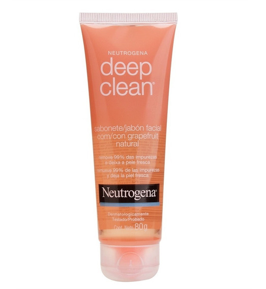 Sabonete Facial Neutrogena Deep Clean Gel Grapefruit 150g