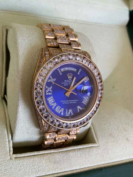 Relógio Eta Automático Modelo Day Date Presidente Cravejado