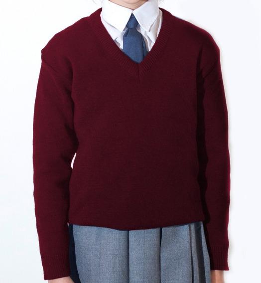 Pullover Escolar (todos Los Colores) - Talles De Niño