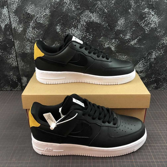 Tênis Air Force One Black And Yellow Masculino