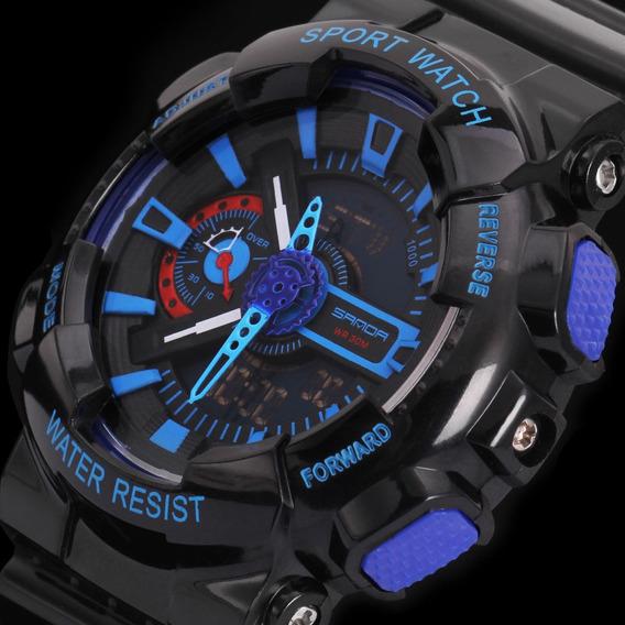 Relógio Masculino Esportivo Estilo Militar Digital Analógico