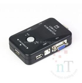 Switch Kvm Chaveador 2 Portas Vga + 2 Usb Monitor