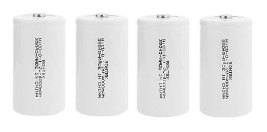 Conjunto 4 Baterias Recarregáveis Grande Tipo D 4000mah