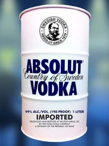 Adesivos Decorativo Tonel Tambor Barril Absolut Vodka