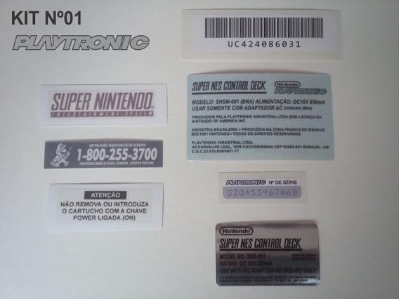 Kit Adesivo Console Super Nintendo Labels Snes Fita Cartucho