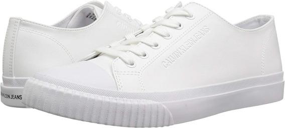 Tenis Calvin Klein Hombre Casual Blancos 100% Original Nuevo