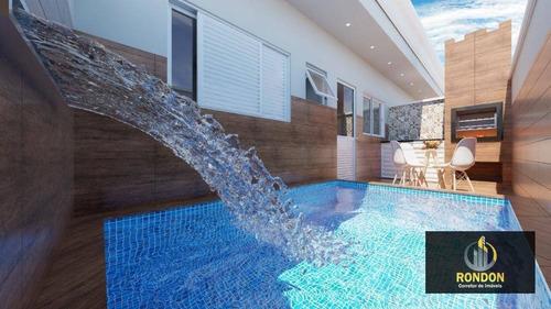 Casa Com 2 Dormitórios À Venda, 47 M² Por R$ 179.000,00 - Cibratel Ii - Itanhaém/sp - Ca1262
