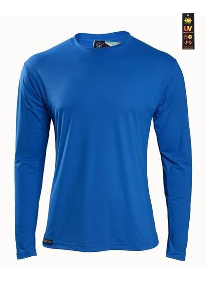 Camisa Proteção Solar Uv 50+ Terra Nativa Azul