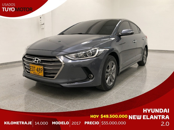 Hyundai Elantra 2.0 Gls A/t Mod 2017 - Como Nuevo!!!