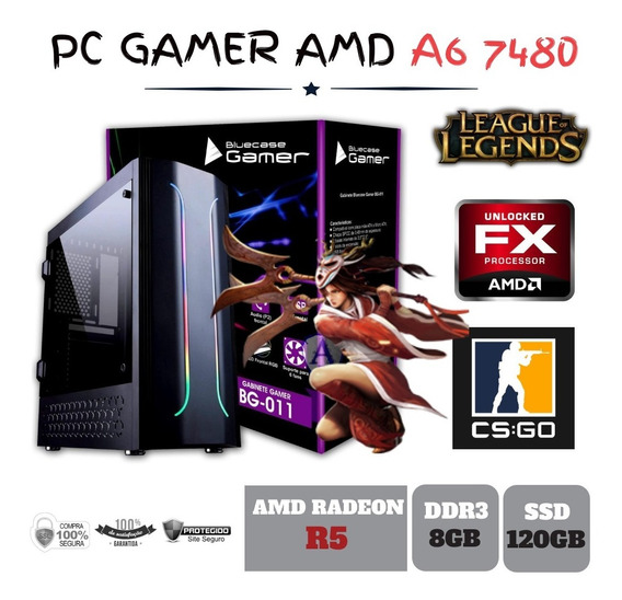 Cpu Gamer Amd A6 7480 8gb Ssd120gb Radeon R5 Integrada