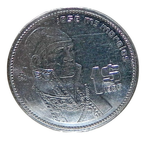 Moneda $1 Un Peso Morelos México 1986