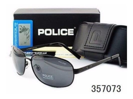 Gafas Sol Tipo Police Polarizadas Lente Negro Estuche + Paño