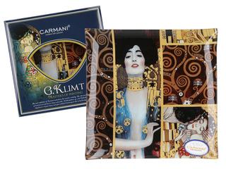 Plato En Cristal Cuadrado 25 Cm Judith Klimt Y El Beso Klimt