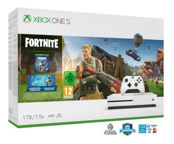 Xbox One S Slim 1tb Fortnite Ultra Hd 4k + Hrd