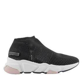 Tênis Sneakers Knit Carrano Tecido Tricot Black Feminino 160