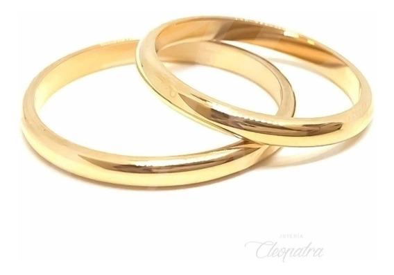 Alianzas Oro 18k 3gr Compromiso Casamiento Media Caña Cuotas