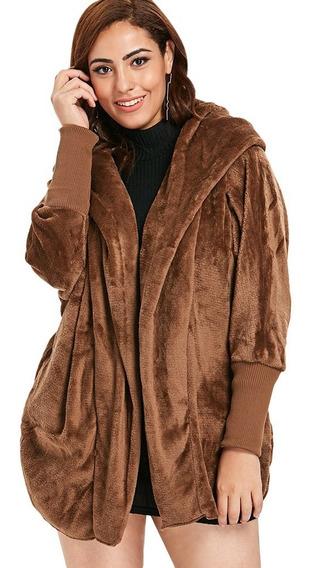 Casaco Com Capuz Plus De Pele Artificial