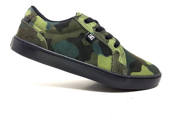 Tênis Dc Shoes Couro Skate Camuflado