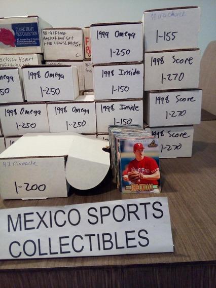 1997 Pinnacle Beisbol Set Completo 200 Tarjetas