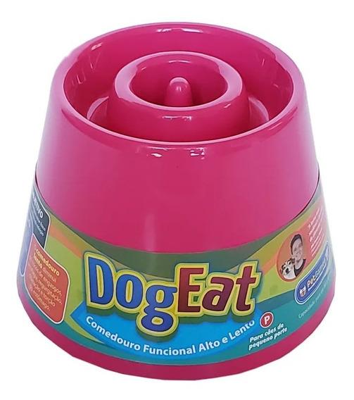 Comedouro Lento Alto Caes Pequeno Dog Eat Pet Games Pink