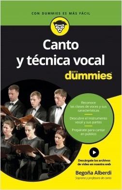 Canto Y Tecnica Vocal Para Dummies Begoña Alberdi + Videos