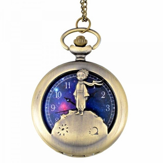 Reloj De Bolsillo Del Principito Con Cadena Vintaje