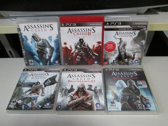 Playstation 3 Combo De 6 Jogos Assassi´s Creed