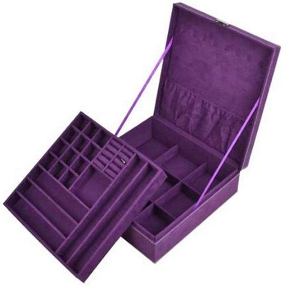 Alhajero Caja Para Joyas Con Divisiones Organizador Morado