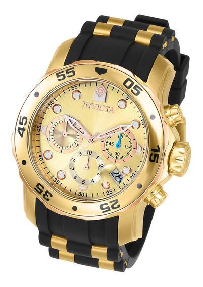 Relógio Invicta Pro Diver 17884 Gold Original